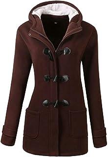 maweisong レディース冬ファッション屋外暖かいウールブレンドクラシックピーコートコートジャケット