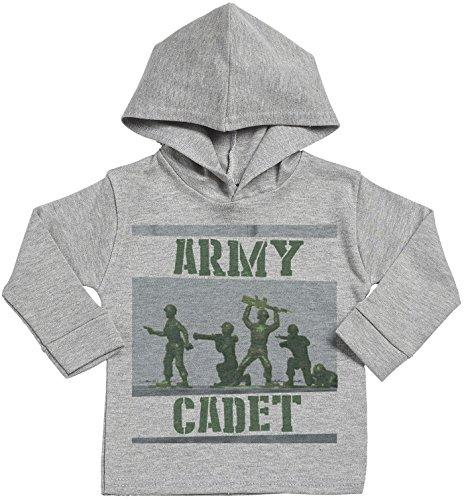 SR - Army Cadet Baby Hoodie - Baby Boy Hoodie - Baby Girl Hoodie - Baby Gift - Baby Hooded Sweatshirt - 6-12 Months Grey