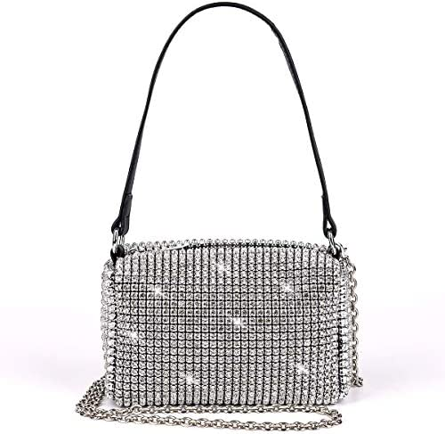 Bling Bling Crystals Evening Clutch Bag for Women Girls Sparkling Crossbody Bag Wedding Prom product image
