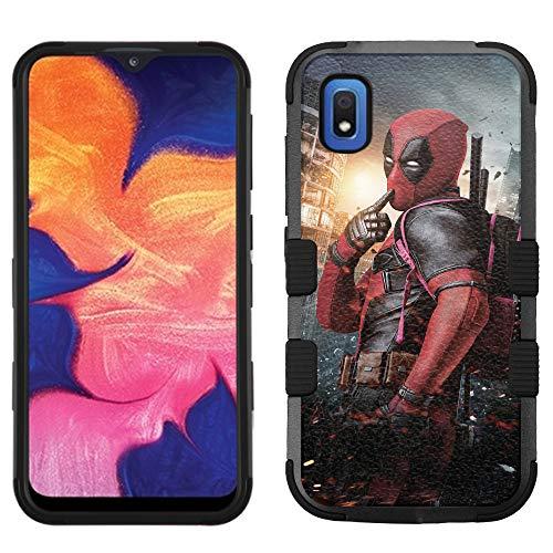 for Samsung Galaxy A10e Case, Galaxy A10e Hard+Rubber Dual Layer Hybrid Heavy-Duty Rugged Impact Cover Case - Deadpool #P