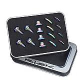 BIKERISK 16pcs / Set Tornillos de Titanio de la aleación para UT/DA / 105 Zapatos Bici del Camino C de Freno C Clamp V Brake Blots Nut Gasket Cycling Piezas,Rainbow