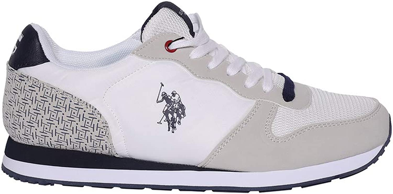 Sneaker Polo in Pelle e Camoscio con para in Gomma Bicolor