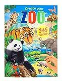 Depesche 11416 Malbuch Create your Zoo mit Stickern, ca. 30 x 22 x 0,5 cm groß, mit 24 bunt illustrierten Seiten und 3 Doppelseiten Aufklebern