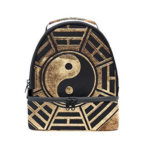 Schouder Dubbele Lunch Bag Vintage Yin Yang Gossip Cooler Verstelbare Band voor Picnic