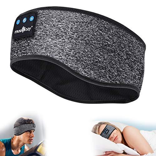 MUSICOZY Sleep Headphones Bluetooth Headband, Wireless Music Sleeping Headphones Noise Cancelling Sleep Mask Earbuds IPX6 Waterproof with Mic for Side Sleepers Workout Running Insomnia Travel Yoga