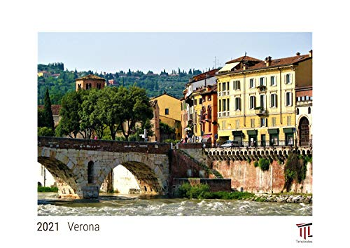 Verona 2021 - White Edition - Timokrates Kalender, Wandkalender, Bildkalender - DIN A3 (42 x 30 cm)