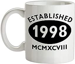 Established 1998 Roman Numerals - 19th Birthday - 10oz Ceramic Mug