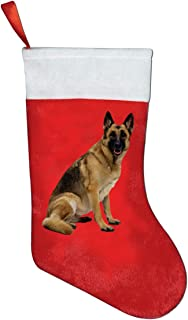 FQWEDY German Shepherd Red Christmas Stockings Party Stockings Xmas Holiday Accessories