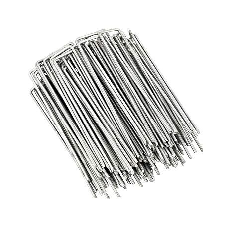 Landscape Staples and Fence Garden Stakes - 50...