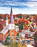 Vermont 2021 Planner: A Pretty And Simple 8 x 10 Size, January 2021 - December 2021, Weekly & Monthly Agenda, Beautiful Vermont Cover Design, Organizer And Calendar