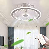 LED Modern Ceiling Fan with Lighting Remote and App Control Mute Adjustable 3-Wind Speed Dimmable Ceiling Light for Bedroom Living Room Home