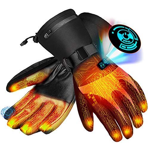 Beheizte Handschuhe für Herren Damen| Beheizbare Handschuhe |Wiederaufladbare Lithium-Ionen-Batterie | 5-Stufen-Temperaturregelung und Touchscreen
