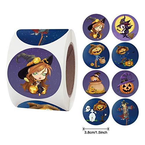 Schiffe aus Deutschland, TriLance Halloween Aufkleber, Halloween-Sticker Kürbisse Kunst, Basteln, Scrapbooking, Party-Dekorationen,für Halloween Kinder