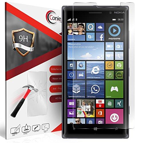 Conie 9H2728 9H Panzerfolie Kompatibel mit Nokia Lumia 830, Panzerglas Glasfolie 9H Anti Öl Anti Fingerprint Schutzfolie für Lumia 830 Folie HD Clear