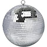 12' Disco Ball Mirror Ball Disco Party Decoration Stage Light Dj Light Effect Home Business Christmas Display Decoration Silver