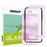 OUNIER Screen Protector for iPhone 8 Plus/iPhone 7 Plus Screen Protector for Girls Color Change White to Pink Tempered Glass Photosensitive Discoloration[2.5D Full Coverage][Case Friendly][5.5']