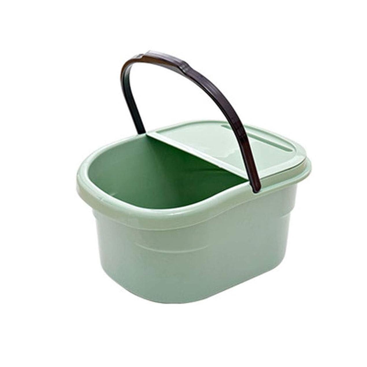 こねる露出度の高い飾り羽スパマッサージ足浴槽バレル家庭用大人子供用足湯浴槽付き携帯スロット XM1209-8-21-11 (Color : Green)