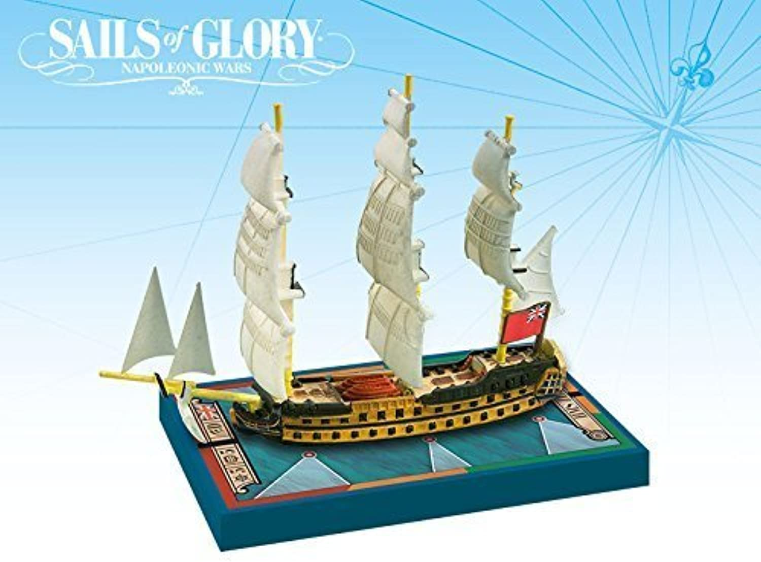Sails of Glory Ship Pack  HMS Zealous 1785 Board Game by Lion Rampant Imports Ltd