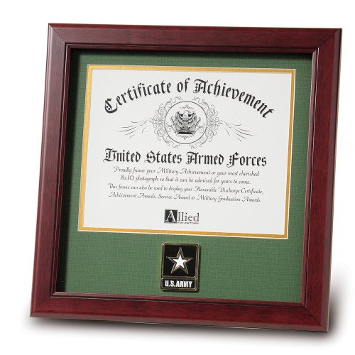 Allied Frame United States Go Army Certificate of Achievement Frame with Medallion - 8 x 10 inch