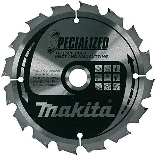 Makita Spezielles Kreissägeblatt für Kreissägen, 190 x 30 mm, 24 Zähne