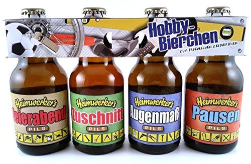 Handwerker Heimwerker Bier im witzigen Hobby 4er Träger Geschenk Clip