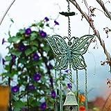 LXDDP Campana Colgante de Campana de Viento de Mariposa de Hierro Fundido, Adorno de balcón para el hogar, Colgante de jardín al Aire Libre, decoración Colgante de jardín