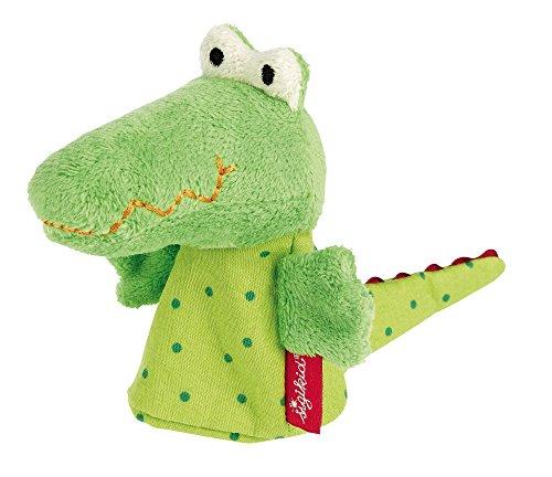 SIGIKID 40379 Fingerpuppe Krokodil PlayQ Mädchen und Jungen Babyspielzeug empfohlen ab 3 Monaten grün