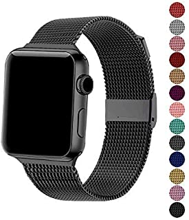 SexHope Compatible for Apple Watch Band 38mm 42mm 40mm 44mm Series 5 4 3 2 1 (Black, 38mm/40mm)