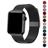 SexHope Compatible for Apple Watch Band 38mm 42mm 40mm 44mm Series 5 4 3 2 1 (Black, 42mm/44mm)