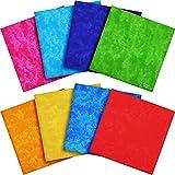 8 Pezzi 19,6 x 19,6 Pollici/ 50 x 50 cm Tessuto di Cotone Tie Dye Tessuto di Cotone Quarto Grasso Tessuto Trapuntato Tessuto Patchwork da Cucito per Sartoria Camicie Abiti Artigianali DIY