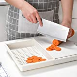 DYOYO Tagliere Cucina, Tagliere Plastica con Scanalatura, Materiale PP per Alimenti, Senza BPA, Resistente al Calore Antimicrobico e Non Tossico Lavabili in Lavastoviglie - 28.5X40CM