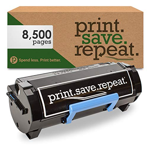 Print.Save.Repeat. Dell 2PFPR High Yield Remanufactured Toner Cartridge for B2360, B3460, B3465 [8,500 Pages]
