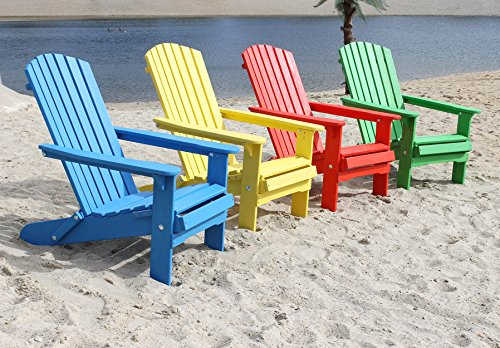 DanDiBo Strandstoel van hout, tuinstoel, inklapbaar, Adirondak, stoel, kleurrijk Set van 4 gekleurd