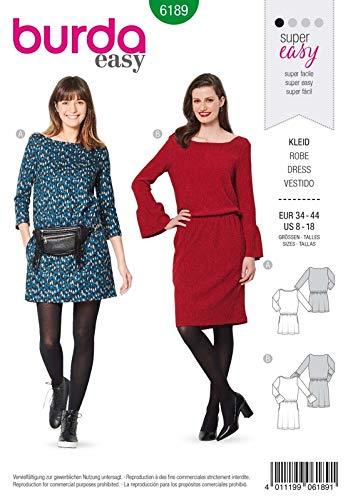 BURDA Vintage Mehrgrößen Schnittmuster 6189 - 2 tlg Damenkleid , Tunika + Rock - Gr. 34-520