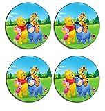 Winnie The Pooh Drink Coasters ( Set of 4 ), Beverage mat, tablewear