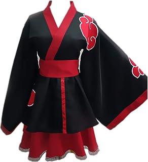 Tokisaki Kurumi Akatsuki Uchiha Itachi Lolita Dresses Kimono Women Dress Anime Cosplay Naruto Costume Girl Fashion Dress