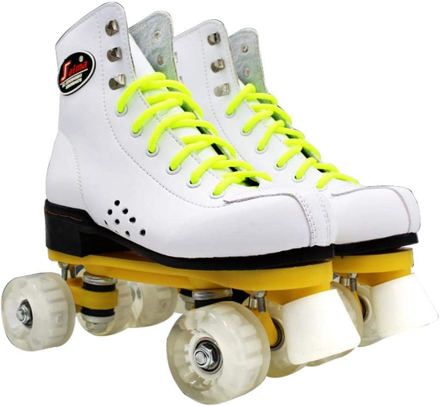 Gets Womens Roller Skates Ranking TOP3 Hi Pu Leather Four-Wheel Sale Special Price