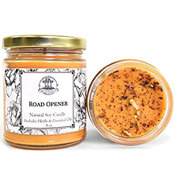 Road Opener 8 oz Soy Spell Candle for New Opportunities Beginnings & Removing Obstacles Wiccan Pagan Hoodoo Magick