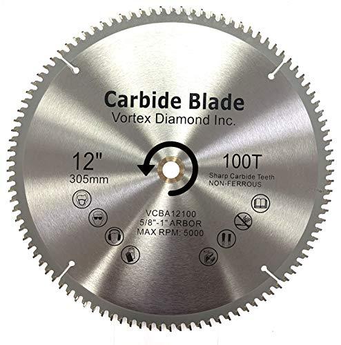 VORTEX DIAMOND VAB 12 Inch 100 Teeth TCT Non-Ferrous Metal Cutting Circular...