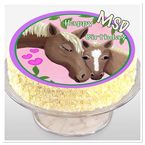 MSDeko taartversiering verjaardag paard taartdecoratie M2