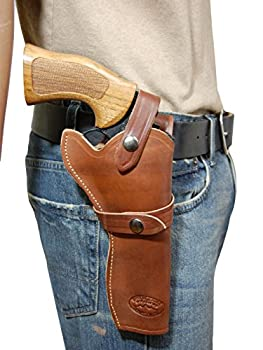 Barsony New Brown Leather Western Style Gun Holster for Ruger Single Security SIX Right