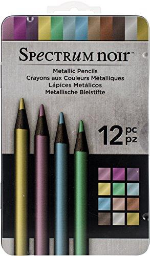 Spectrum Noir SPECN-MP12, Pack de 12 lápices metálicos PK, 19 x 12 x 1.5 cm, Multicolor