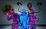 Yirenfeng Fondos De Pantalla Jane Ou Tablón Yoga Gimnasio Tema Fondo Pintura Mural-200X140Cm
