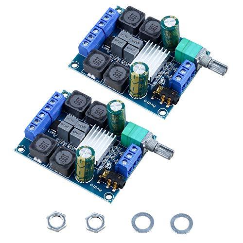 DesignSter 2 PCS TPA3116D2 Zweikanal-Stereo High-Power Subwoofer Digital-Endverstärker-Brett für DIY Heimkino-Lautsprecher (2x50W 5V 12V 24V)