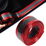 Coche Puerta Umbral Pegatinas, Carbono Fibra Protector Puerta Umbral, Umbral del Coche Protector, Goma Estilo Umbral Protector Is Fits Most Cars, Prevent The Car From Being Scratched