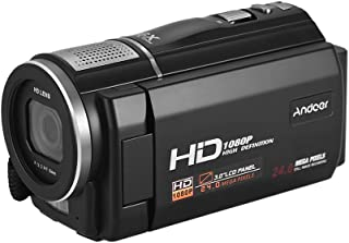 "Andoer HDV-F5 1080P Full HD Digital Video Camera DV Recorder Camcorder 24MP 16X Digital Zoom 3.0"" Rotatable LCD Touchscree..."