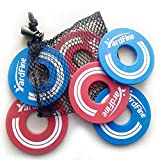YardFine Washer Game Replacement Sets for Washer Toss, Sets of 6 Replacement Washers Game, Choose from Steel, Plastic Coated Steel(3 Blue & 3 Red)