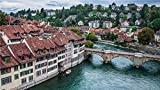 AMDPH Arquitectura De La Ciudad De Berna Suiza Impresiones En Lienzo Obra De Arte Obra De Arte Pintura Impresiones En Lienzo para Dormitorio para Sala De Estar Decoración De Oficina