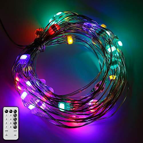 Guirnalda blancas cálida led luces 10M con 100 bombillas de led para decoración Interior jardines casas boda fiesta de Navidad