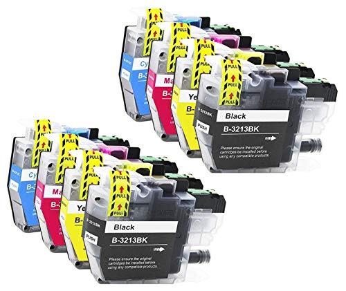 8 Bergsan Druckerpatronen kompatibel mit Brother LC3213 LC-3213 LC3211 LC-3211 Patronen für DCP-J572DW MFC-J497DW MFC-J491DW DCP-J774DW DCP-J772DW MFC-J890DW MFC-J895DW
